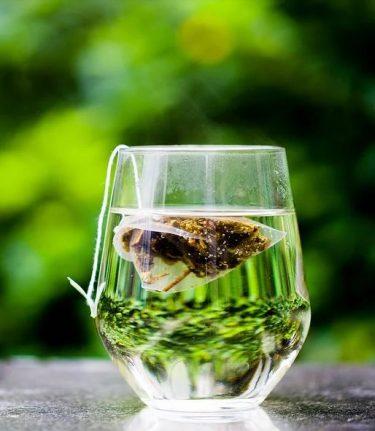 glas groene thee